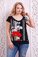 Батальная женская блуза ДАЛИЯ ТМ Таtiana 58  размер