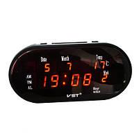 Часы сетевые 801 WX-1 красные