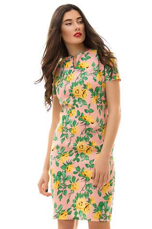 Платье  с принтом розы , фото 2
