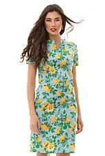 Платье  с принтом розы , фото 3