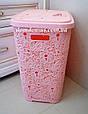 "Корзина для белья ""Ажур"" 67 л  Elif Plastik, Турция, цвет пудры, фото 2"