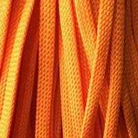 Шнур плоский чехол ПЭ 8мм оранжевый (100 метров)