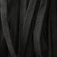 Шнур плоский чехол ПЭ 8мм черный (100 метров)