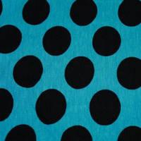 Ткань трикотаж вискоза принт горох черный (метр )