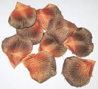 Лепестки роз искусственные, коричневые