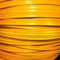 Кант пластиковый для сумок (кедер) 6мм желтый (100 метров)