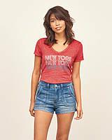 "Красная футболка ""New York"" Abercrombie & Fitch"