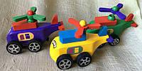 Деревянная игрушка - вертолет заводной.