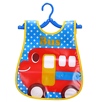Слюнявчик нагрудник с карманом Автобус (02147)