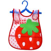 Силиконовый слюнявчик с карманом Strawberry (02145)