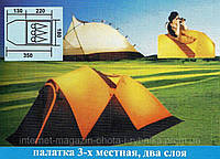 Палатка с алюминиевым каркасом, Палатка 3-местная Coleman 1912