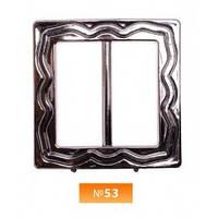 Пряжка пластиовая №53 блек никель 3.5 см (100 штук)