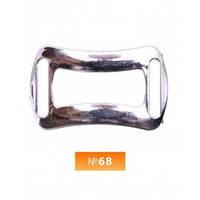Пряжка пластиовая №68 никель 2 см (100 штук)