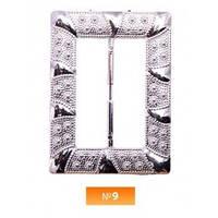 Пряжка пластиовая №9 никель 4.5 см (100 штук)