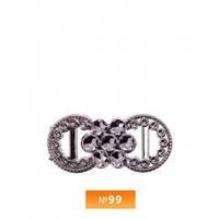 Пряжка пластиовая №99 блек никель (100 штук)