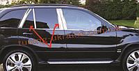 Молдинги на дверные стойки Omsa на BMW X5 E53 1999-2006