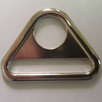 Треугольник металл для карабина и ленты 2,5см литой (100 штук)