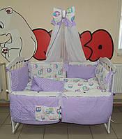 Детское постельное белье Bonna Present Фиолетовые совы
