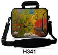 """Сумка-чехол для планшета/нетбука 13.3"""" гламур HQ-Tech H341 """"Пейзаж осень"""", неопреновый"""