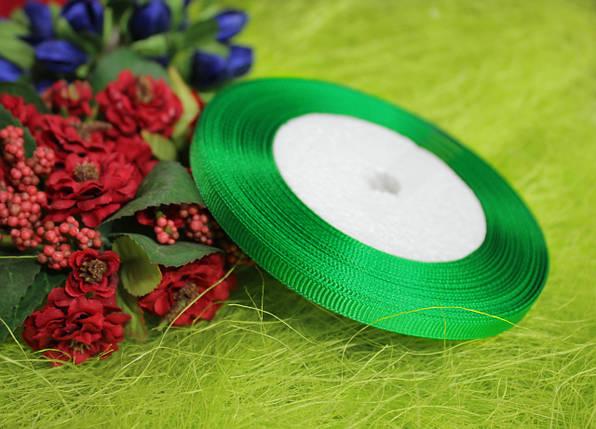 Лента репсовая зеленая 6 мм, 23 м, фото 2