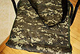 Стул складной со спинкой, камуфляж Р-22, фото 5