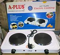 Электроплита А-Плюс, электрическая плита на 2 конфорки, A-Plus