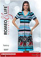 """Летний молодежный халат больших размеров """"Romeo&Life"""" XL,2XL,3XL,4XL,5XL Турция"""