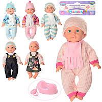 Кукла пупс бейби борн (baby born) Малюки 1704, 6 видов: 33см, горшок + соска, пьет-писает