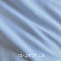 Трикотажное полотно кулир хб пенье 30/1, голубой