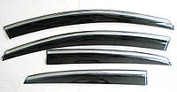 Volkswagen Polo Sedan ветровики дефлекторы окон ASP с молдингом нержавеющей стали / sunvisors