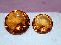 Декоративный кристалл чайного цвета фен шуй 4,8 сантиметров диаметр