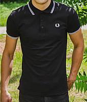 "Футболка Поло ""Fred Perry"" Черная поло fred perry black чёрное футболка черная чёрная."