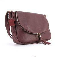 Бордовая кожаная сумка женска Viladi vi-049 bor, фото 1