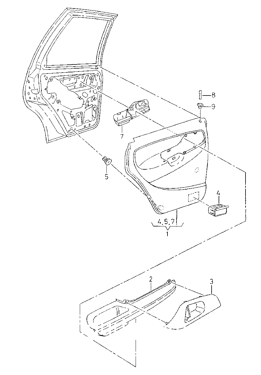 6K4 867 210 QJWS обшивка дверей VW-AUDI