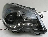 VW Polo Mk4 9N оптика передняя черная LED
