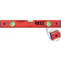 Уровень (3 глазка/линейка) красный, фрезерованная грань, 1200 мм
