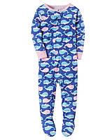 Детский комбинезон на молнии (пижама) с принтом Carters для девочки