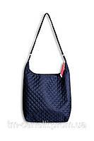 Молодежная стеганая сумка  Мэри синяя
