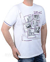 Стильная мужская футболка белая