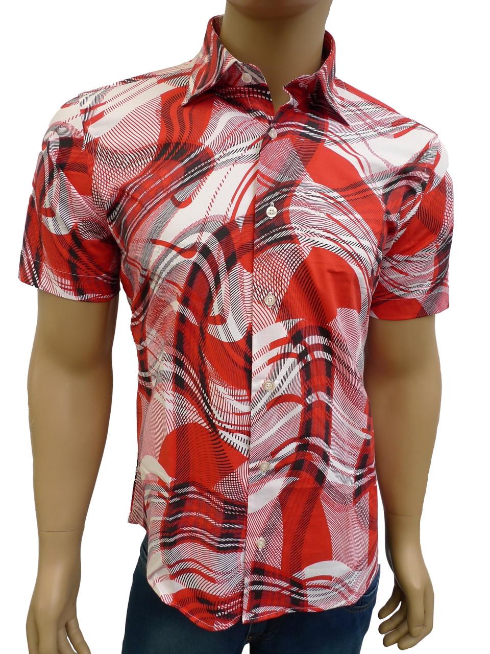 приталенная модная рубашка