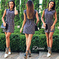 Платье короткое на кнопках супер-софт 2 цвета SMdi1444, фото 1