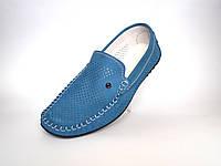 Летние мужские мокасины замшевые с перфорацией голубые Rosso Avangard SE Alberto Blu Perf