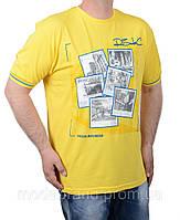 Мужская футболка большого размера желтая