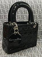 Сумка Christian Dior мини черная лаковая