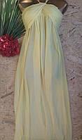 Платье в пол бюстье Лика 8258 желтый 42-48р