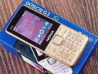 Мобильный телефон Nokia G3 Золото. Экран 2.4'' GPRS копия Нокия G3 MicroUSB