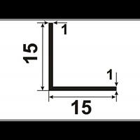Алюмінієвий Кутник ПАК-0019 15х15х1 / AS Срібло