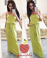 Женское  платье в пол в мятном цвете