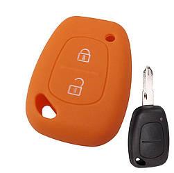 Силиконовый чехол на корпус ключа Renault Master II  1998->2010 - DSP (Китай)—   PGORANGE