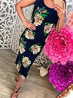 Платье майка с цветами